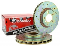 Brembo Sport Performance Cross-Drilled Rotor Set